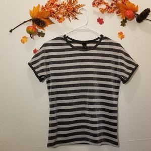 The Limited Shimmery Striped Top